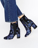 Asos EZRA Jacquard High Ankle Boots
