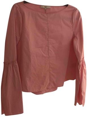 Tibi Pink Cotton Tops