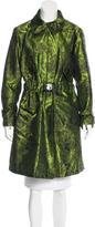 Oscar de la Renta Floral Jacquard Coat