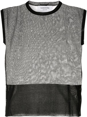 Thom Browne Sheer Silk Tank Top