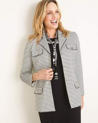 Chico's Chicos Striped Knit Jacket