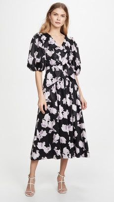 Rebecca Taylor Long Sleeve Ikat Tie Dress
