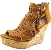 Not Rated Honey Open Toe Canvas Wedge Sandal.