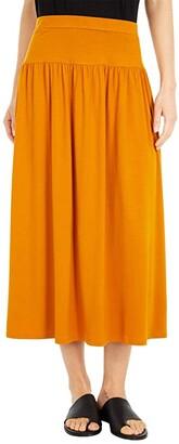 Eileen Fisher Full-Length Flare Skirt (Black) Women's Skirt