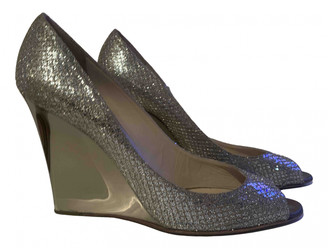 Jimmy Choo Metallic Glitter Heels