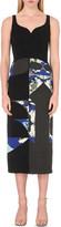 Antonio Berardi Abstract colour-blocked wool-crepe dress