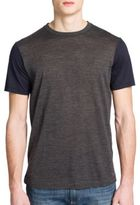 Emporio Armani Colorblock Wool Blend Tee