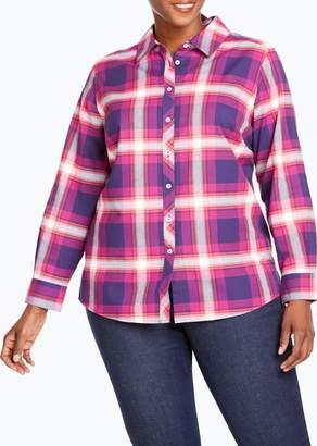 Foxcroft Trisha in Fall Tartan Plaid Shirt (Plus Size)