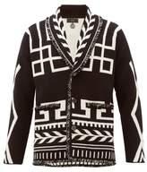 Alanui - Geometric Jacquard Cashmere Cardigan - Mens - Black Multi