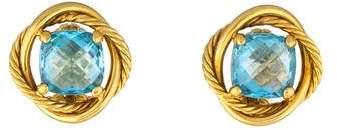 David Yurman 18K Topaz Infinity Earrings