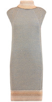 Raoul Pinori open-knit cotton-blend turtleneck mini dress