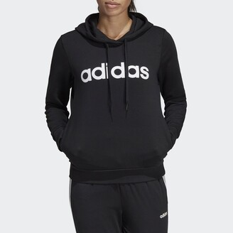 adidas Essentials Linear Logo Hoodie in Cotton/Recycled Polyester