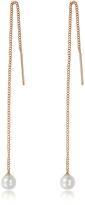 Vita Fede Pearl Thread Rose Gold Tone Earrings