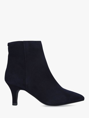 Carvela Comfort Romy Stiletto Pointed Toe Suede Ankle Boots