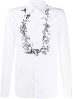 Alexander McQueen Floral-Print Button-Up Shirt