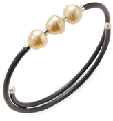 Sterling Silver and Pearl Bangle