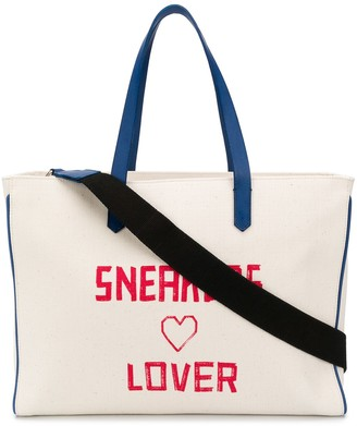 Golden Goose Sneakers Lover print canvas tote