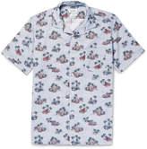Hartford - Slam Camp-collar Printed Cotton Shirt