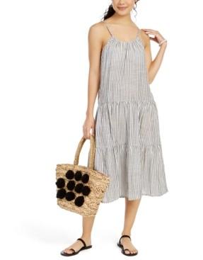 Raviya Sleeveless Striped Cotton Cover-Up Midi Dress Women's Swimsuit