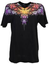 Marcelo Burlon County of Milan Butterfly Printed Filipa Black Cotton T-shirt