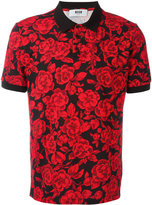 MSGM rose print polo shirt - men - Cotton - S