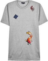 Lanvin Grey Embroidered Cotton T-shirt