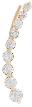 Anita Ko 18kt rose gold Floating diamond cuff earring