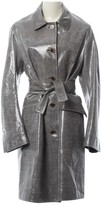 Ports 1961 Grey Wool Trench Coat for Women