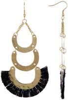 Jardin Black Layered Fringe Dangle Earrings