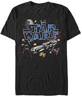 Star Wars Men's Flight of the Falcon Graphic T-Shirt