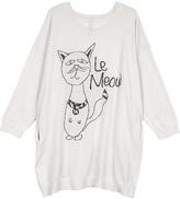 Melissa McCarthy Egret 'Le Meow' Side Pocket Sweater - Plus