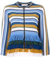 Tory Burch fringed jacket - women - Cotton - XS