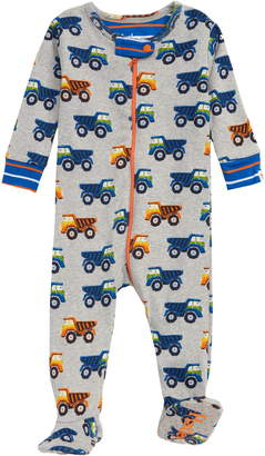 Hatley Dump Trucks Organic Cotton Fitted One-Piece Pajamas
