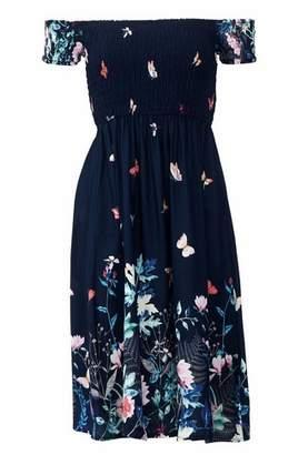 Dorothy Perkins Womens *Izabel London Navy Floral Print Bardot Dress