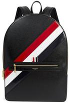 Thom Browne Pebbled Leather Diagonal Stripe Backpack