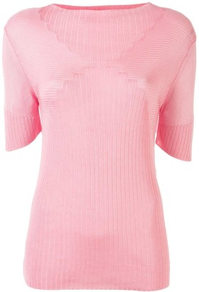 Paco Rabanne Knitted Short Sleeve Top