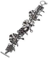 Givenchy Hematite-Tone Crystal Toggle Bracelet