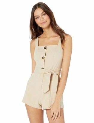 The Fifth Label Women's Desert Sleeveless Buttondown Utility Romper Playsuit