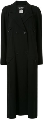 Chanel Pre Owned Loose Fit Double-Breasted Coat