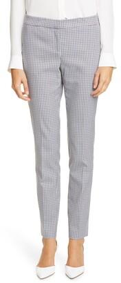 Lafayette 148 New York Gingham Slim Pants