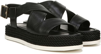Via Spiga Platform Leather Espadrilles - Grayce
