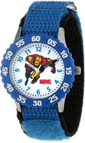 Iron Man Marvel Comics Kids' W000117 Stainless Steel Time Teacher Watch