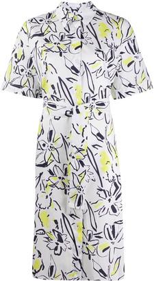 Paul Smith Floral Short-Sleeve Shirt Dress