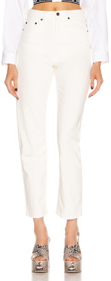 Miu Miu High Waisted Jean in White | FWRD