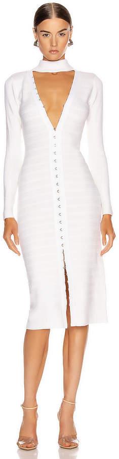 Jonathan Simkhai Slit Front Dress in White   FWRD