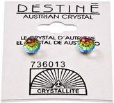 Crystallite Destine Vitrail Medium 6mm Faceted Ball Earring