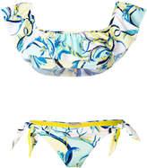 Emilio Pucci ruffle front bikini