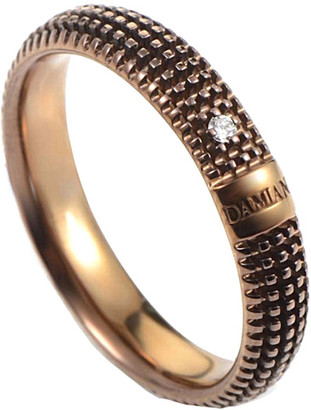 Damiani 18K Rose Gold & Rhodium Size 5 Diamond Ring