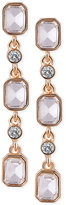 T Tahari Gold-Tone Crystal Drop Earrings