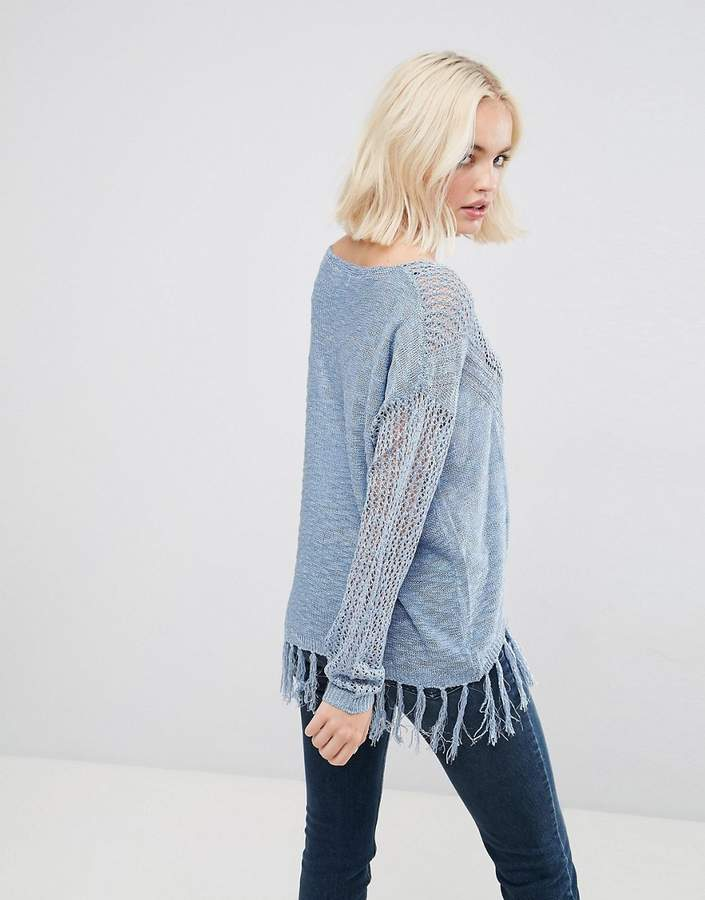 Deby Debo Risque Fringed Jumper